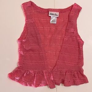 Little Lass Pink Knit Vest size 3